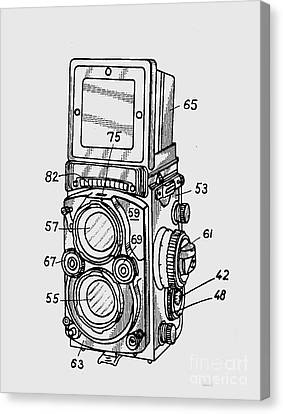 Old Rollie Vintage Camera T-shirt Canvas Print by Edward Fielding