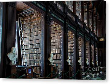 Old Room In The Trinity College Library In Dublin Canvas Print by RicardMN Photography