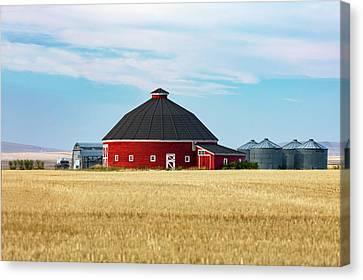 Old Round Barn Canvas Print by Todd Klassy