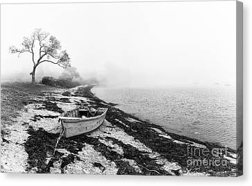 Old Rowing Boat Canvas Print by Jane Rix