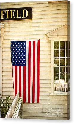 Old Rugged Field Flag Canvas Print by Craig J Satterlee