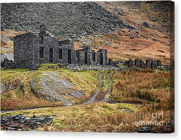 Old Ruin At Cwmorthin Canvas Print by Adrian Evans