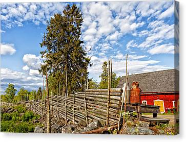 Canvas Print featuring the photograph Old Rural Farm Set In A Beautiful Summer Nature by Christian Lagereek