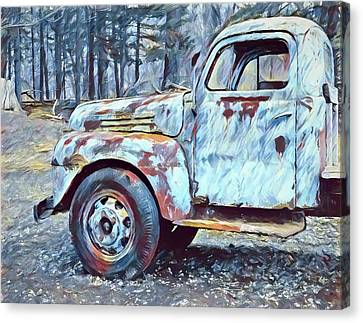 Old Rusted Truck Canvas Print by Dan Sproul