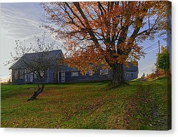 Maine Farmhouse Canvas Print - Old Rustic Farmhouse by Marty Saccone