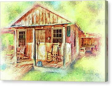 Old Rustic House In The Mountains Ap Canvas Print by Dan Carmichael