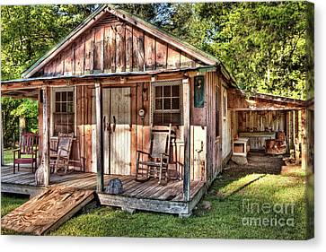 Canvas Print featuring the photograph Old Rustic House In The Mountains by Dan Carmichael