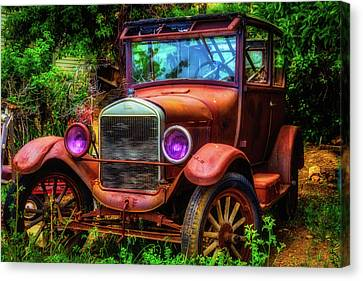 Old Rusting Ford Canvas Print