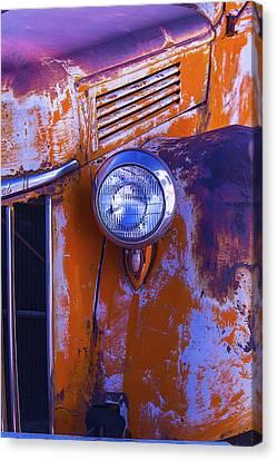 Truck Canvas Print - Old Rusty Truck Headlight by Garry Gay