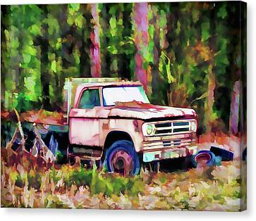 Old Rusty Truck Canvas Print by Lanjee Chee