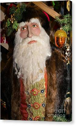 Old Saint Nick In Petaluma California Usa Dsc3765 Canvas Print by Wingsdomain Art and Photography