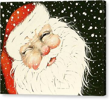 Old Saint Nick Canvas Print by Paula Weber