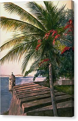 Old San Juan  Canvas Print by George Bloise