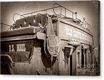Old Santa Fe Stagecoach Canvas Print