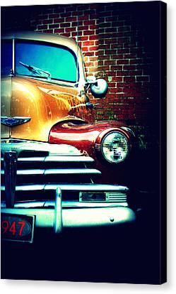 Dana Canvas Print - Old Savannah Police Car by Dana  Oliver