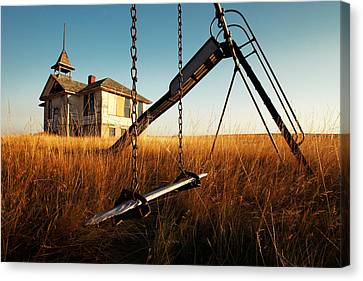 Ghost Canvas Print - Old Savoy Schoolhouse by Todd Klassy