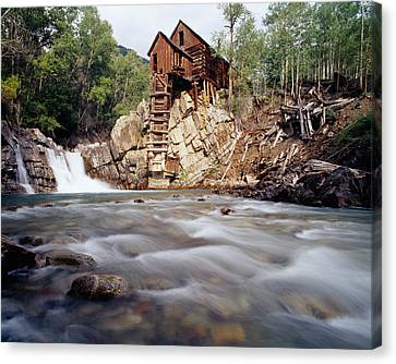 Old Saw Mill, Marble, Colorado, Usa Canvas Print