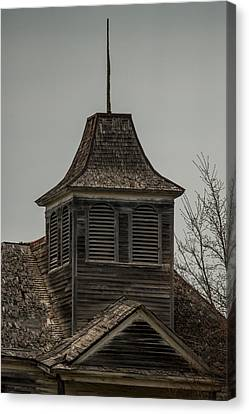 Country Schools Canvas Print - Old School Bell Tower by Paul Freidlund