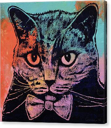 Old School Cat Canvas Print