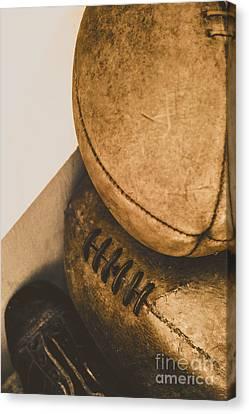 Old School Football Canvas Print by Jorgo Photography - Wall Art Gallery
