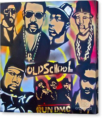 Old School Hip Hop 3 Canvas Print by Tony B Conscious