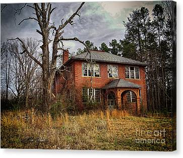 Old School Houses Canvas Print - Old School House  by Melissa Messick