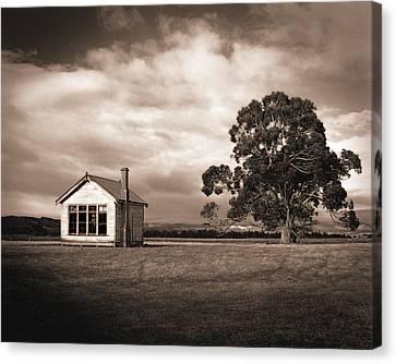 Old School House, Otahu Flat, New Zealand Canvas Print