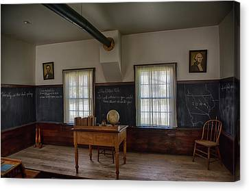 One Room School Houses Canvas Print - Old School House by Paul Freidlund