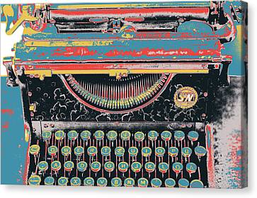 Typewriter Keys Canvas Print - Old School by Shay Culligan