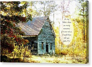 Old Church - Verse Canvas Print by Anita Faye