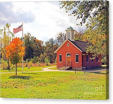 Old Schoolhouse-wildwood Park Canvas Print
