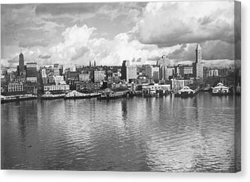 Old Seattle 1949 Canvas Print