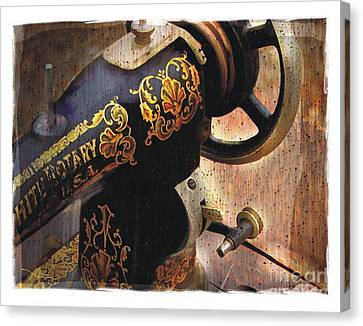 Old Sewing Machine Canvas Print by Bob Salo