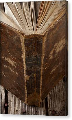 Book Collecting Canvas Print - Old Shakespeare Book by Garry Gay