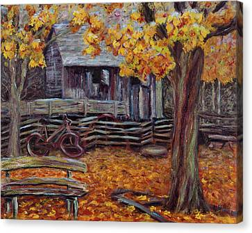 Shed In The Forest Canvas Print