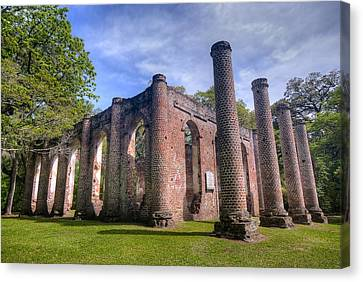 Old Sheldon Church Canvas Print by Andreas Freund