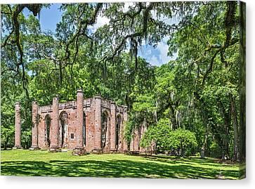 Old Sheldon Church Ruins - South Carolina Photograph Canvas Print by Duane Miller