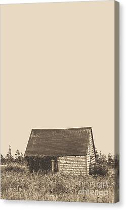 Brown Tones Canvas Print - Old Shingled Farm Shack by Edward Fielding