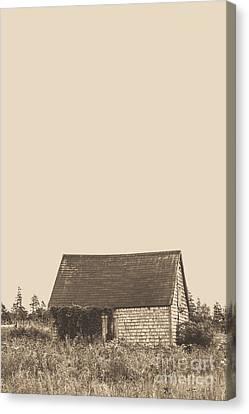 Old Shingled Farm Shack Canvas Print by Edward Fielding