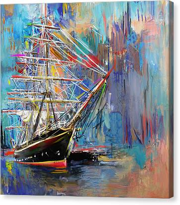 Old Ship 226 1 Canvas Print by Mawra Tahreem