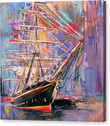 Old Ship 226 4 Canvas Print by Mawra Tahreem