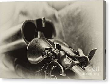 Old Shotgun Canvas Print by Wilma  Birdwell