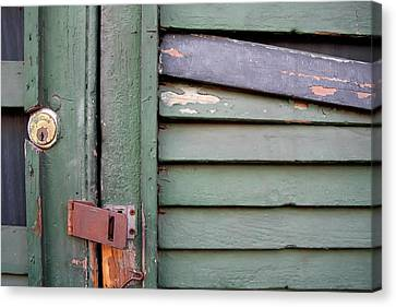 Canvas Print featuring the photograph Old Shutters French Quarter by KG Thienemann