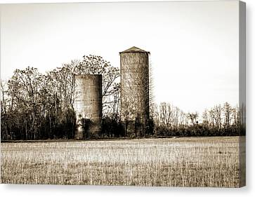 Old Silos Canvas Print by Barry Jones