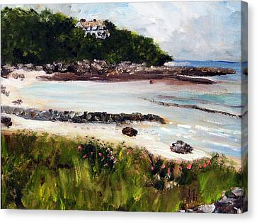 Old Silver Beach Falmouth Canvas Print by Michael Helfen