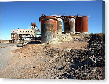 Canvas Print featuring the photograph Old Silver Mine Broken Hill by Bill Robinson