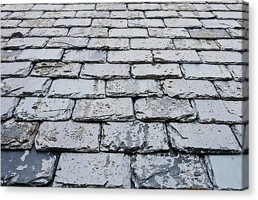 Old Slate Tiles Canvas Print by Tom Gowanlock