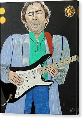 Canvas Print featuring the painting Old Slowhand. by Ken Zabel