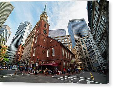 Old South Meeting House Boston Ma Canvas Print