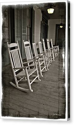 Old South Porch Canvas Print